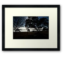 Boating And Camping By The Lake Framed Print
