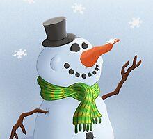 Snowman Christmas/Winter Card by JezLong