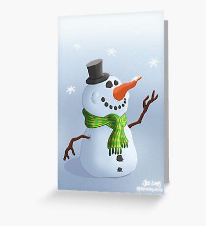 Snowman Christmas/Winter Card Greeting Card