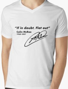 If in doubt, Flat out Mens V-Neck T-Shirt