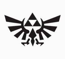 Zelda - Triforce (Black) Kids Clothes