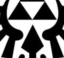 Zelda - Triforce (Black) Sticker