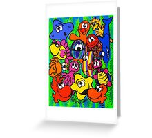 Fishy Business in Weed Patch Greeting Card
