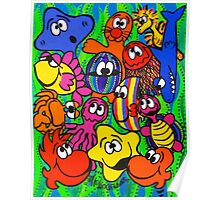 Fishy Business in Weed Patch Poster