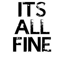 It's All Fine (Johnlock) ~ Black by undesirable
