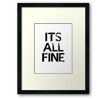 It's All Fine (Johnlock) ~ Black Framed Print