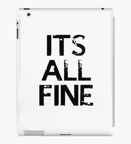 It's All Fine (Johnlock) ~ Black iPad Case/Skin