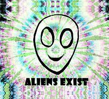 aliens exist. by Jessica Garcia