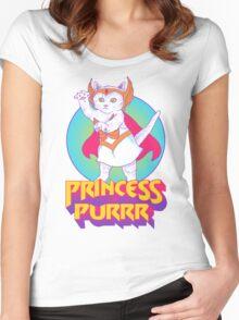 Princess of Purrr Women's Fitted Scoop T-Shirt