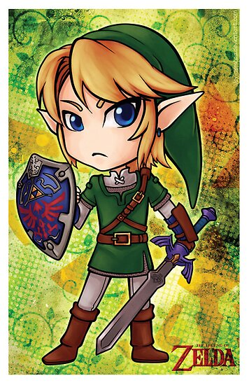Link chibi poster by Vanesa Aguilar