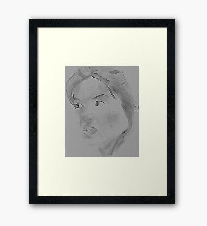 Sumi-e Framed Print