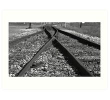 Rail Switch Art Print