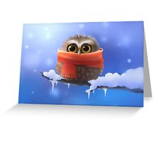 Owl with scarf Greeting Card