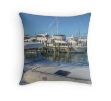 Busy Marina in Nassau, The Bahamas Throw Pillow