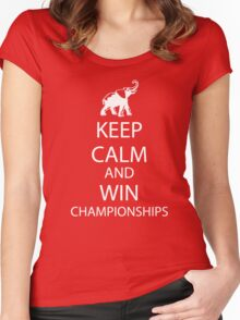 Keep Calm and win National Championships white Women's Fitted Scoop T-Shirt