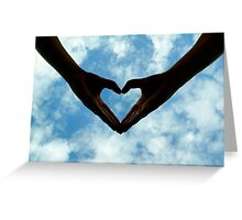 Hands full of heart Greeting Card