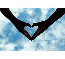 Hands full of heart Photographic Print