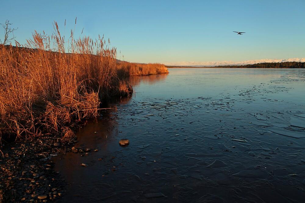 Beluga Lake in Fall by mcornelius