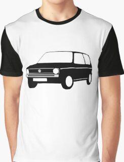 Volkswagen VW Golf Mk1 Black White Full Graphic T-Shirt