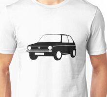 Volkswagen VW Golf Mk1 Black White Full Unisex T-Shirt