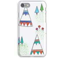 Teepees in the wild iPhone Case/Skin