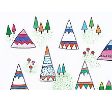 Teepees in the wild Photographic Print