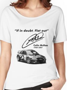 If in doubt, Flat out (with subaru) Women's Relaxed Fit T-Shirt