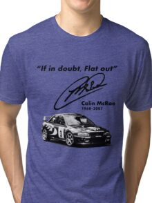 If in doubt, Flat out (with subaru) Tri-blend T-Shirt