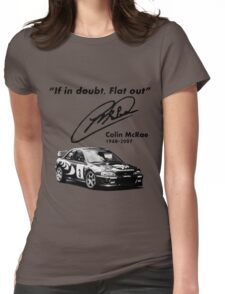 If in doubt, Flat out (with subaru) Womens Fitted T-Shirt