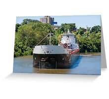 Freighter On The Cuyahoga Greeting Card