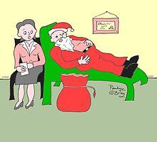Santa at Christmas, by Pauline O'Brien
