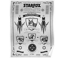 Star Fox Nintendo Vintage Poster Poster