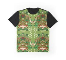 Ornated mask vertical Graphic T-Shirt