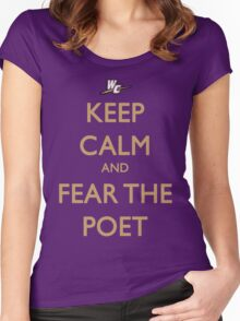 Keep Calm and Fear the Poet Women's Fitted Scoop T-Shirt