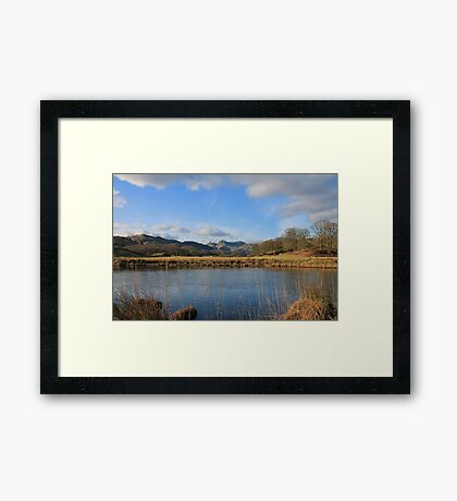 The Langdale Pikes From The River Brathay Framed Print