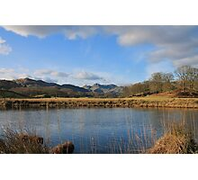 The Langdale Pikes From The River Brathay Photographic Print