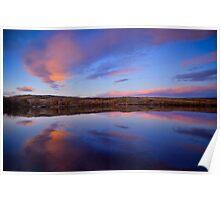 Peaceful Lake Sunset Poster