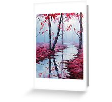 Pink toned Landscape Greeting Card