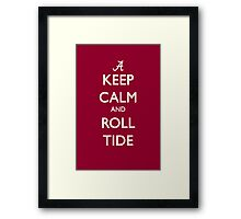 Keep Calm and Roll Tide Framed Print