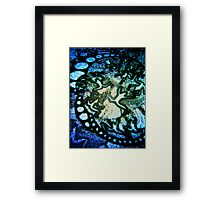 Ladies together, assenting to the deep blue Framed Print