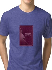 Christmas, winter card; New Year Tri-blend T-Shirt