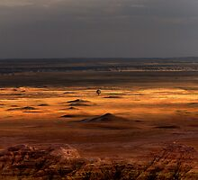 Sunset over Sage Creek Basin by Alex Preiss