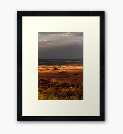 Sunset over Sage Creek Basin Framed Print