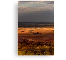Sunset over Sage Creek Basin Canvas Print