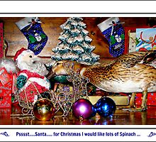 Pssst...Santa....for Christmas I would like lots of Spinach by Susan Freeman