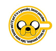 The dog in the Pancakes Photographic Print