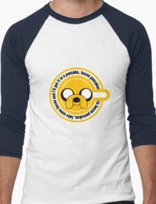 The dog in the Pancakes Men's Baseball ¾ T-Shirt