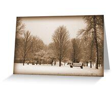 A Winter's Scene Greeting Card