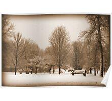 A Winter's Scene Poster