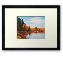 Autumn Lake Framed Print